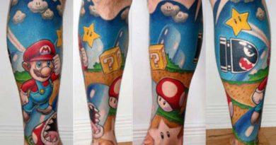 tatouages mario