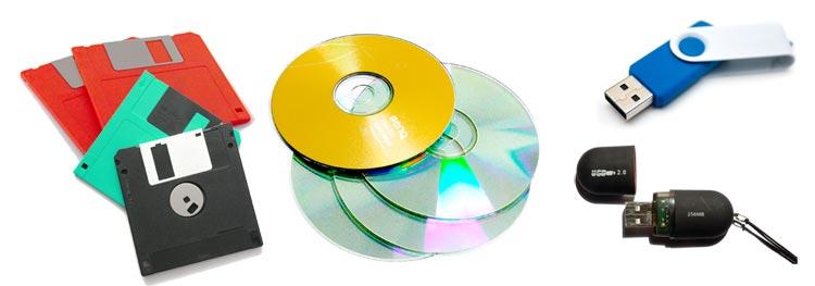 disquette cd clé usb